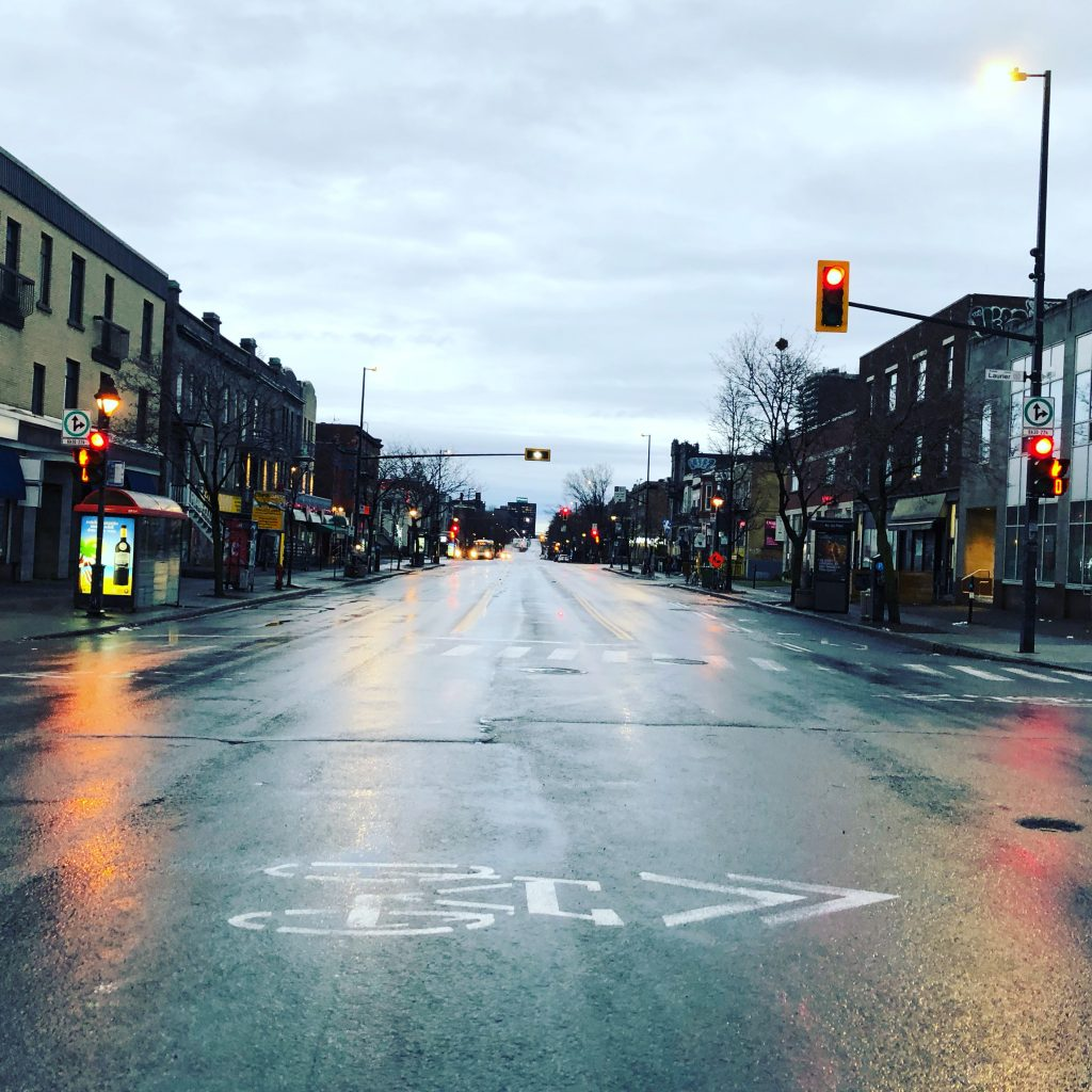Deserted street, Parc Avenue on Christmas Morning 2020
